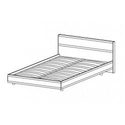 Кровать КР-2003 (1,6х2,0) для спальни Лером «Карина»