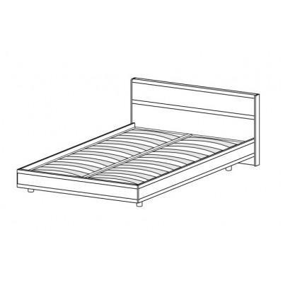 Кровать КР-2002 (1,4х2,0) для спальни Лером «Карина»