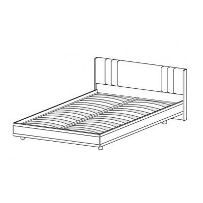 Кровать КР-2012 (1,4х2,0) для спальни Лером «Карина»