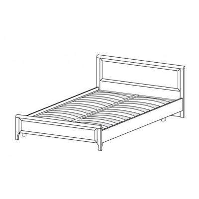 Кровать КР-2022 (1,4х2,0) для спальни Лером «Карина»