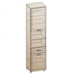Шкаф ШК-823 для детской Лером «Ксюша»