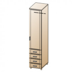 Шкаф ШК-1724 для спальни Лером «Камелия»